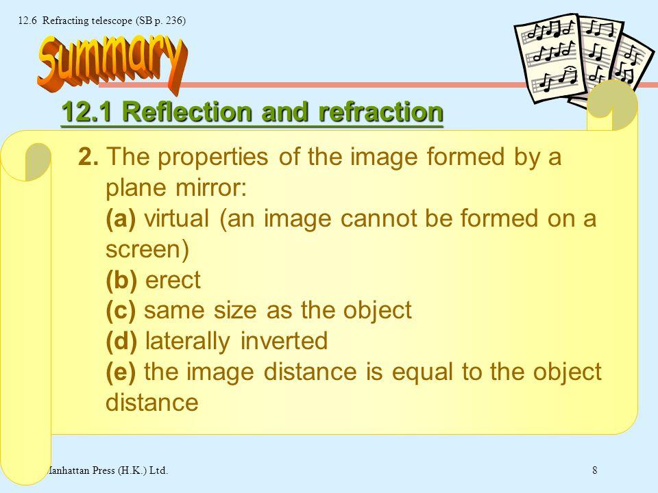 7 © Manhattan Press (H.K.) Ltd. 12.6 Refracting telescope (SB p.