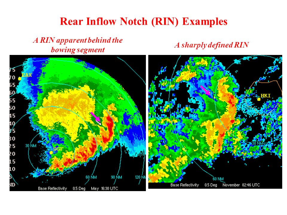 Rear Inflow Notch (RIN) Examples A RIN apparent behind the bowing segment A sharply defined RIN