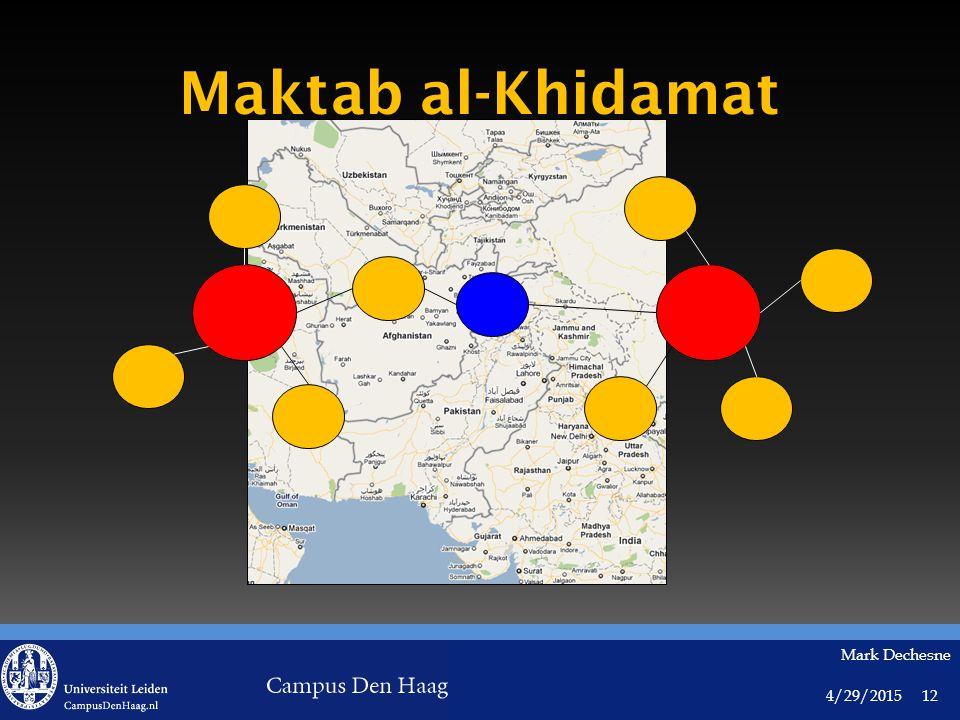 4/29/2015 Mark Dechesne 12 Maktab al-Khidamat