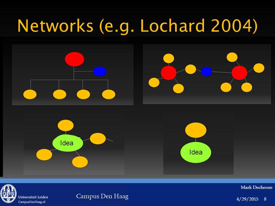 4/29/2015 Mark Dechesne 8 Networks (e.g. Lochard 2004) Idea