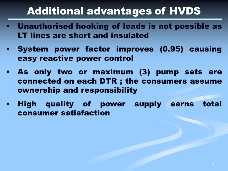 10 Questions & Critical issues frequently faced on HVDS A.Whether HVDS is for future areas to be electrified or to convert existing LVDS.