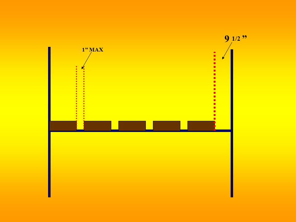 (b) Platform Construction  Platforms fully planked or decked  Maximum 1 gaps  Maximum openings of 9½ if necessary  Platforms and walkways minimum 18 wide  Guardrails and/or Personal Fall Arrest System (PFAS) for < 18 wide  Planks laid at angles other than 90º laid first under planks laid over supports at 90 º Ladders and Scaffolds 20 SUBPARTS X & L