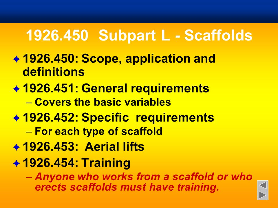  9% of construction deaths are scaffold-related  Scaffold falls injure 29,000 workers every year.