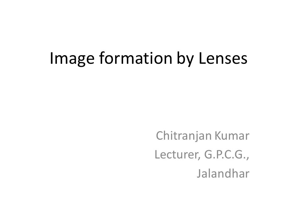 In daily life, you may have come across two types of lenses that are 1.
