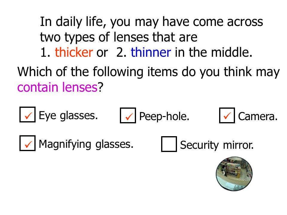 C F 2F2FF O 5 cm I Object distance Image distance = 30 cm = 15 cm m = 30 cm 15 cm = 2 Alternatively,