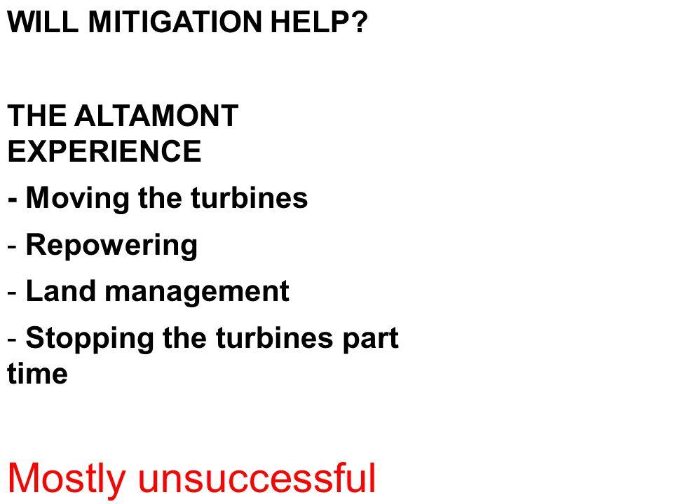 WILL MITIGATION HELP.