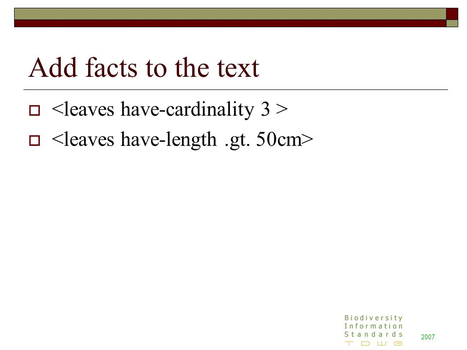2007 Add facts to the text 