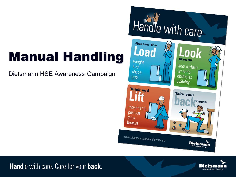 Manual Handling Dietsmann HSE Awareness Campaign
