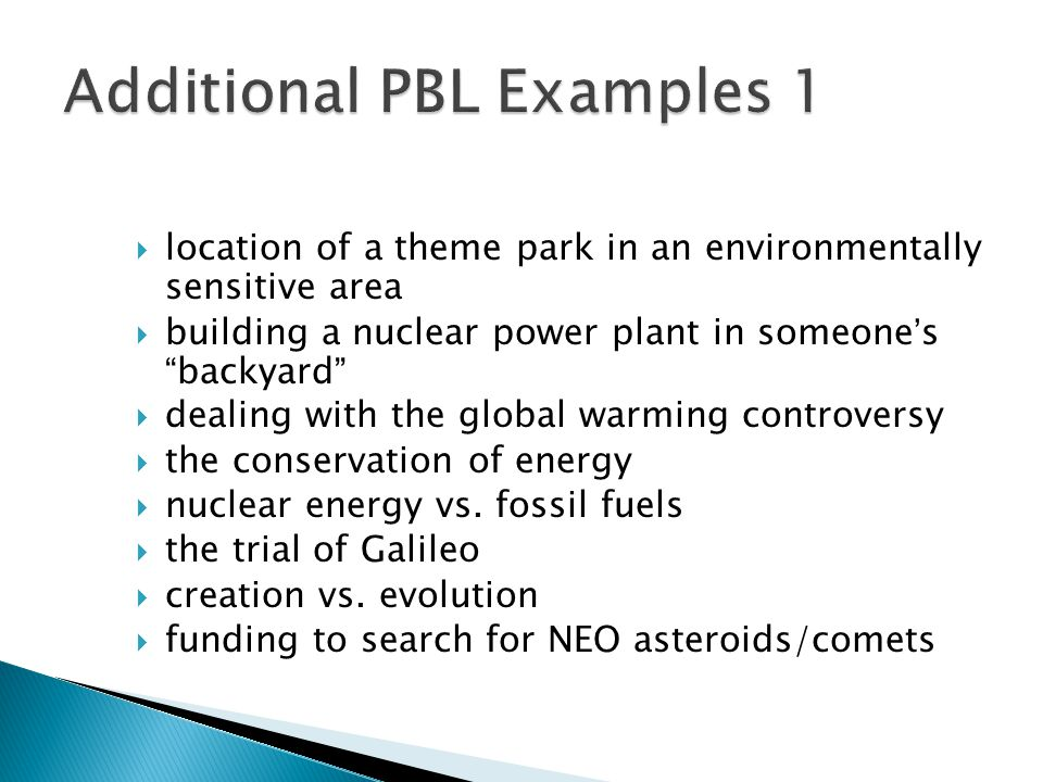 location of a theme park in an environmentally sensitive area  building a nuclear power plant in someone's backyard  dealing with the global warming controversy  the conservation of energy  nuclear energy vs.