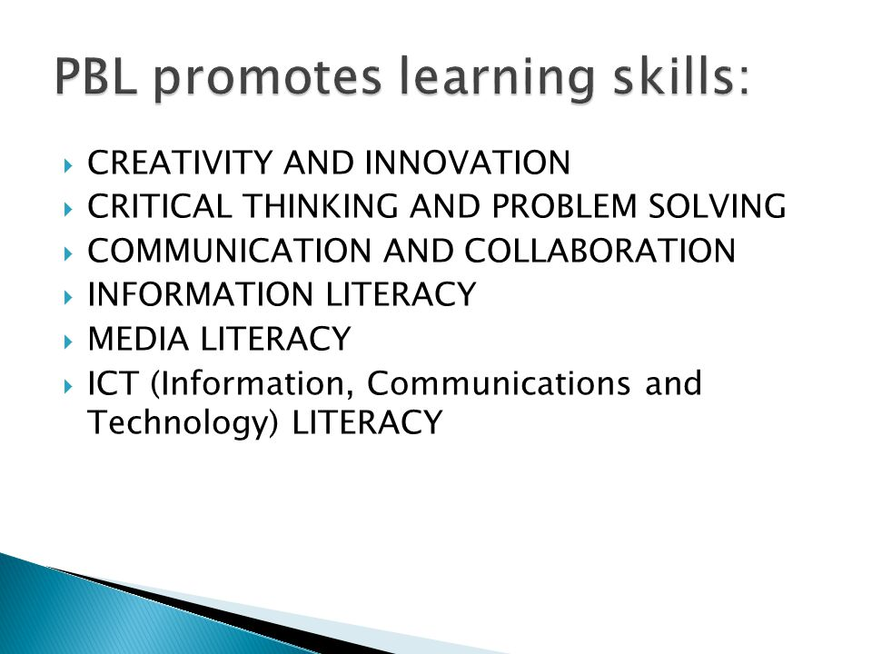  CREATIVITY AND INNOVATION  CRITICAL THINKING AND PROBLEM SOLVING  COMMUNICATION AND COLLABORATION  INFORMATION LITERACY  MEDIA LITERACY  ICT (Information, Communications and Technology) LITERACY