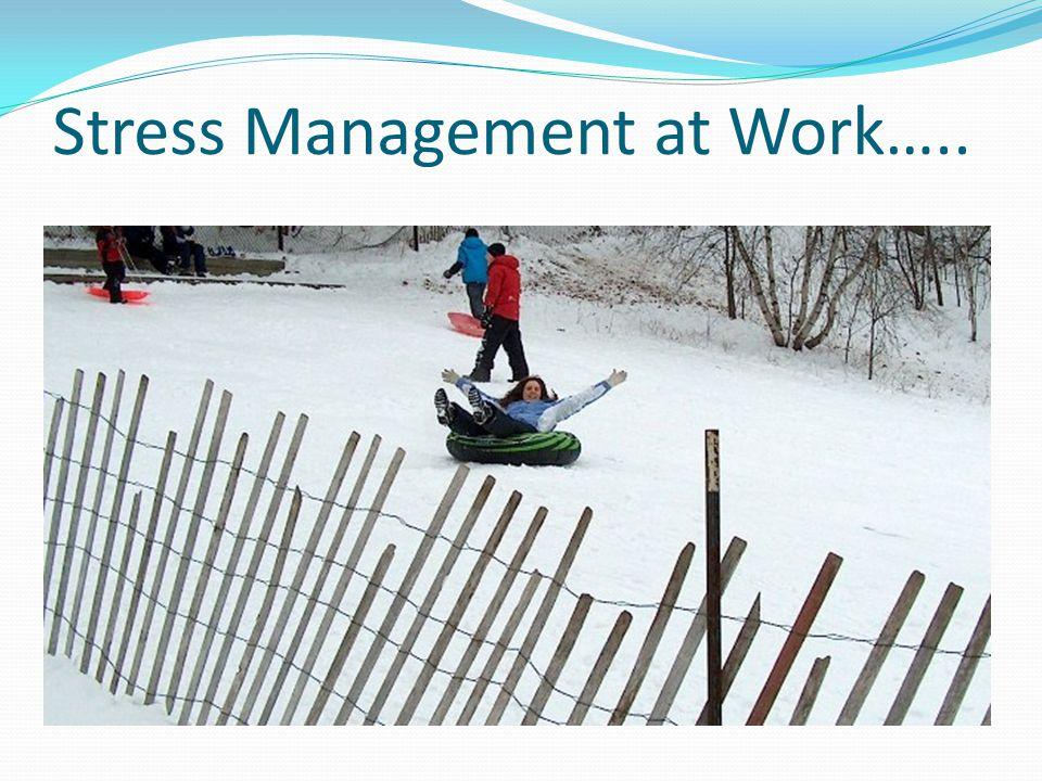 Stress Management at Work…..