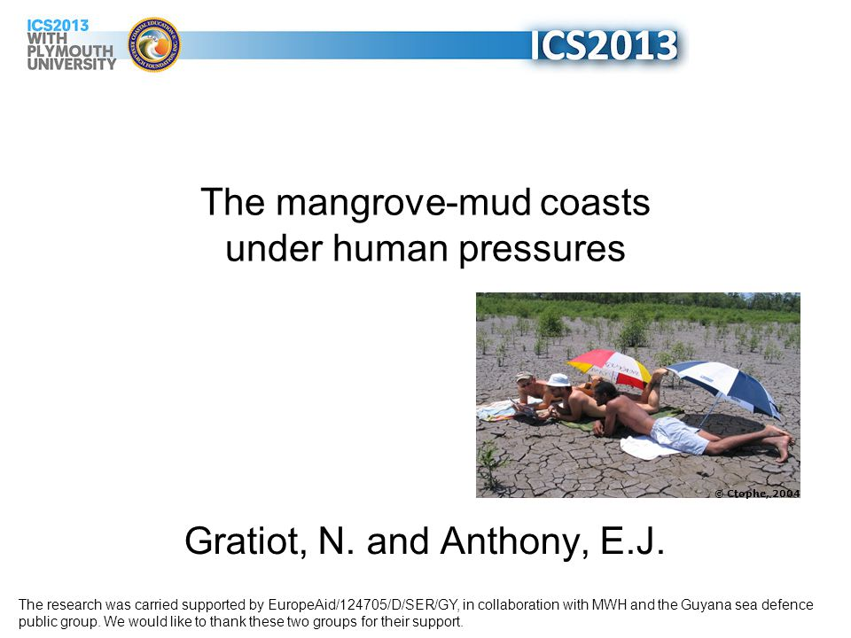 The mangrove-mud coasts under human pressures Gratiot, N.