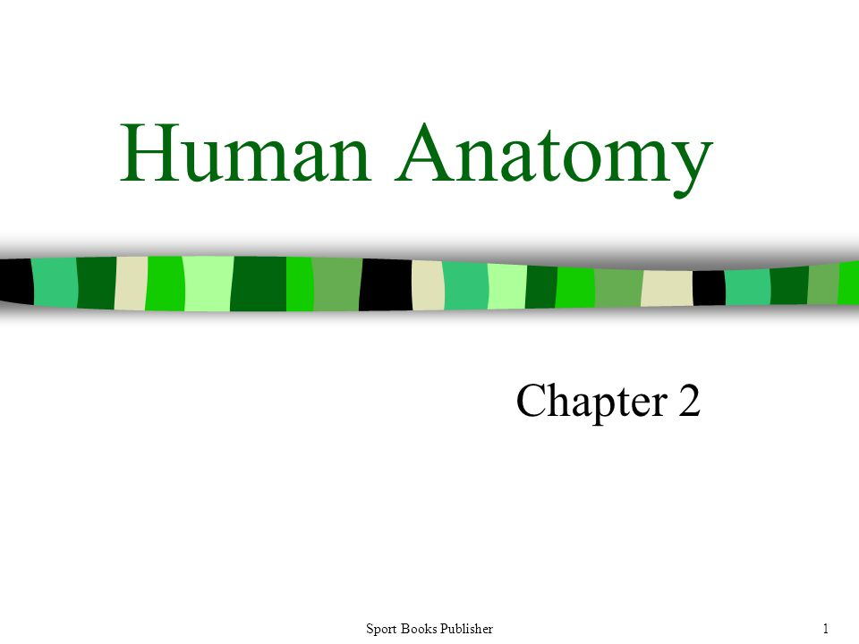 Sport Books Publisher1 Human Anatomy Chapter 2