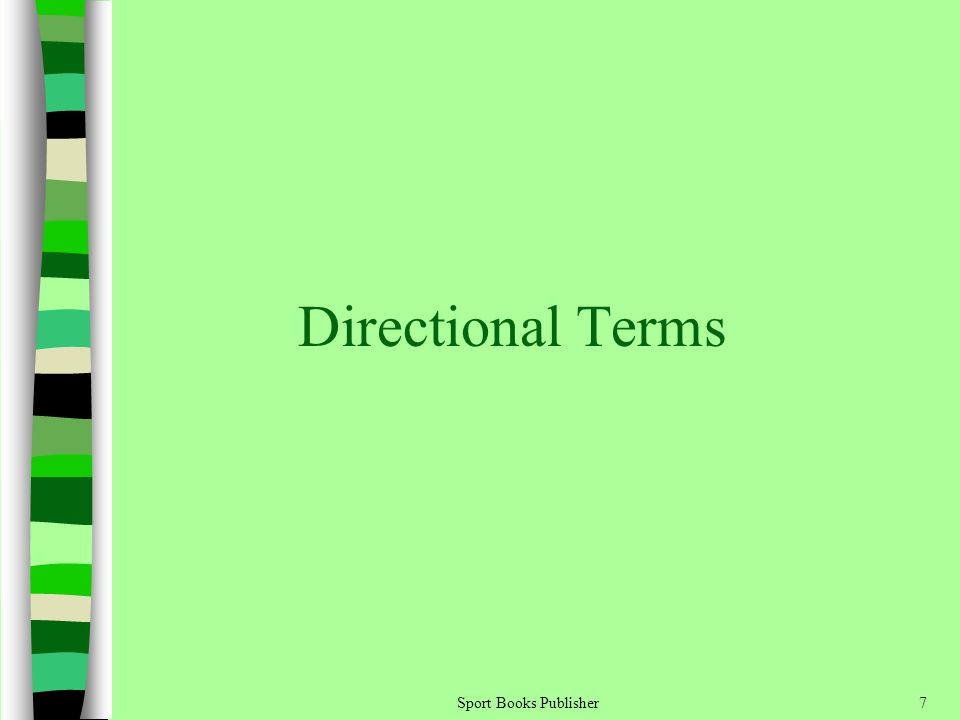 Sport Books Publisher7 Directional Terms
