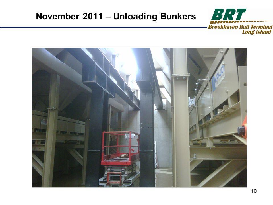 10 November 2011 – Unloading Bunkers