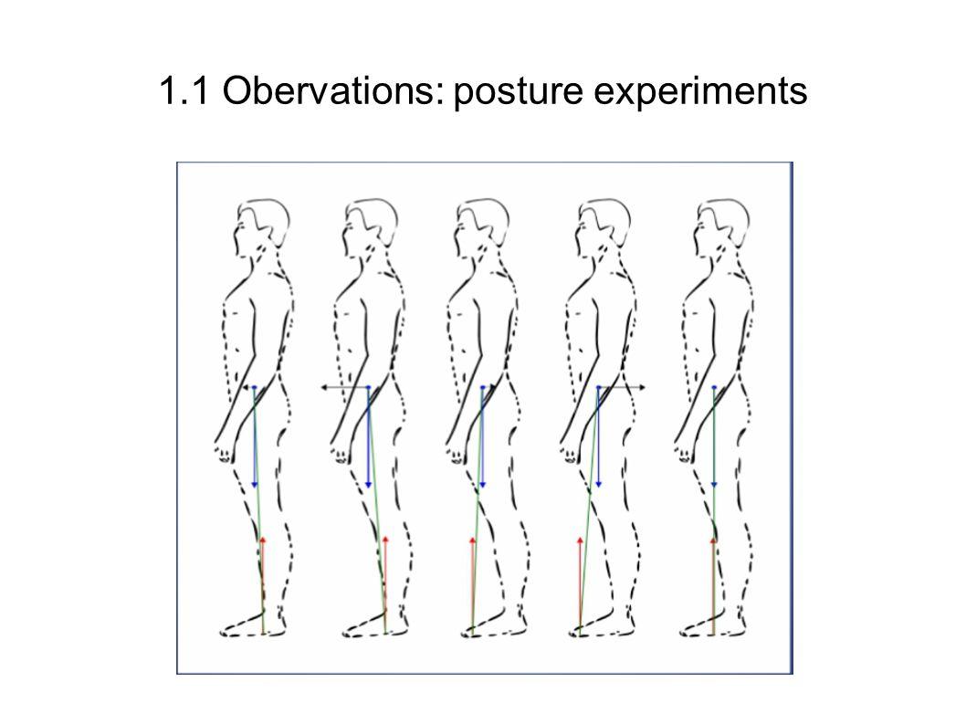 1.1 Obervations: posture experiments