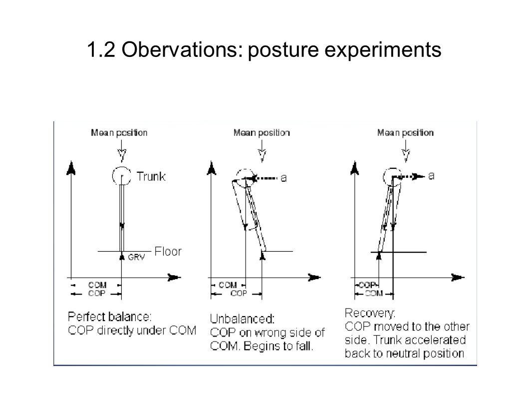1.2 Obervations: posture experiments