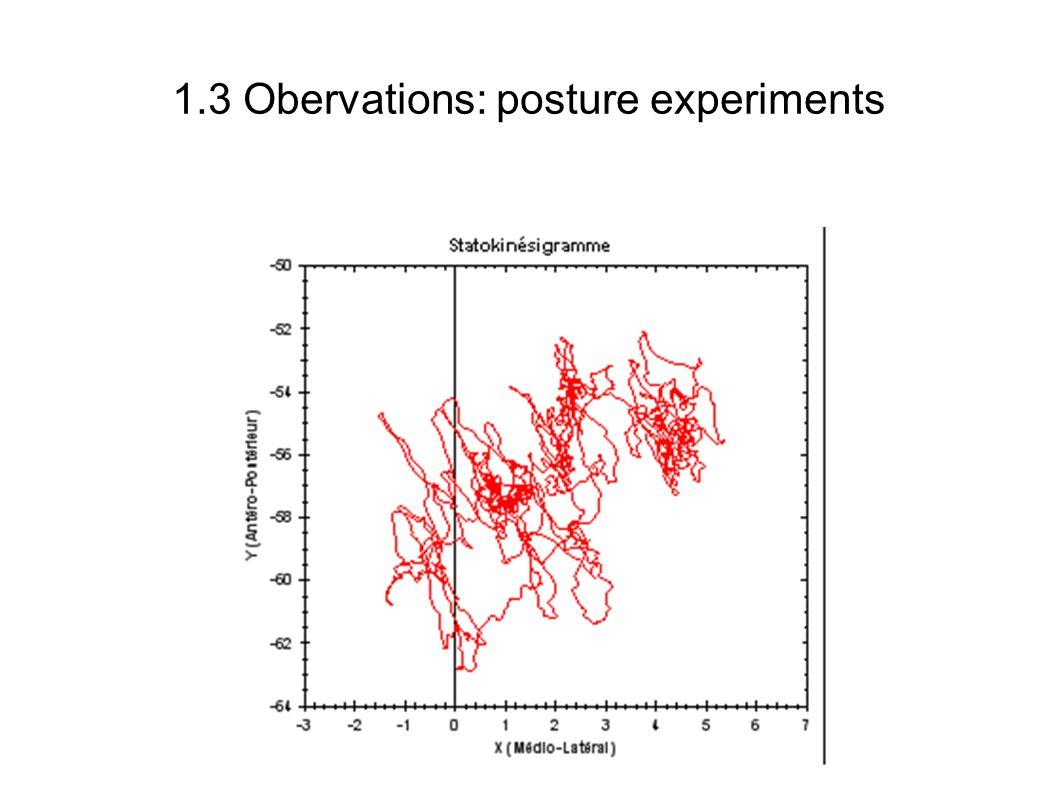 1.3 Obervations: posture experiments