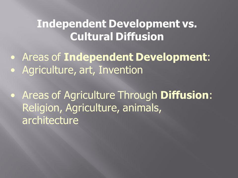 Independent Development vs.