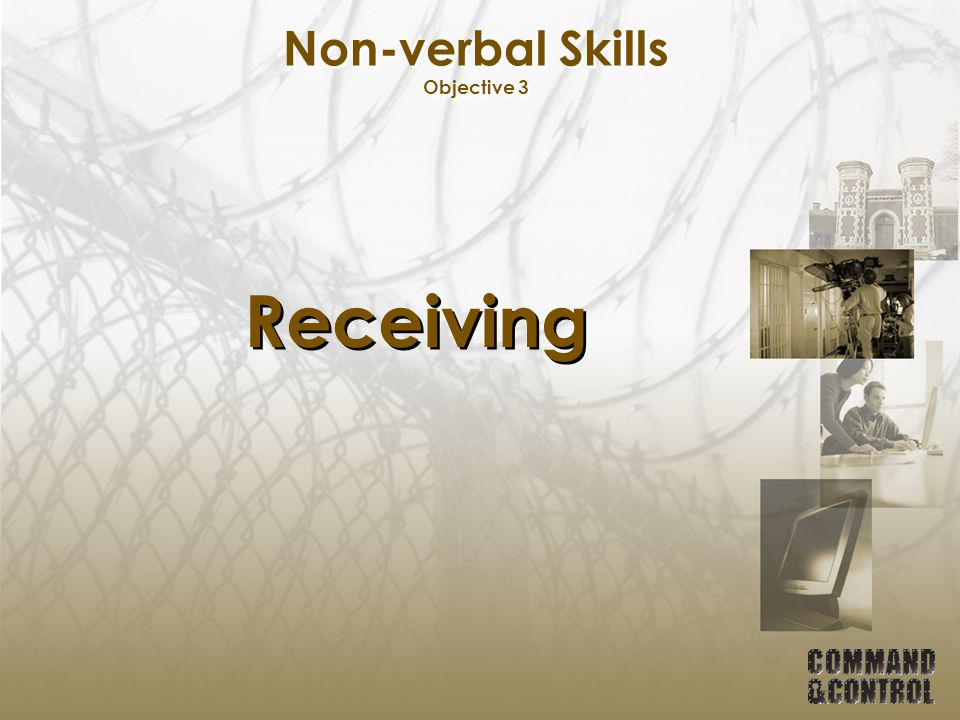 Non-verbal Skills Objective 3 Receiving