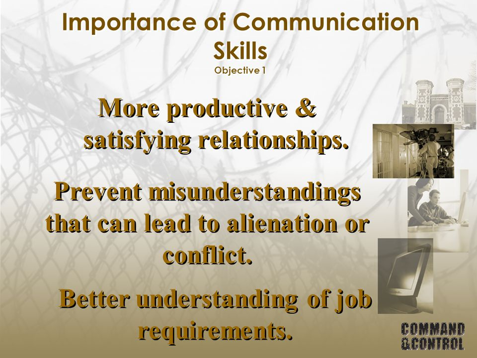 Importance of Communication Skills Objective 1 Most importantly….