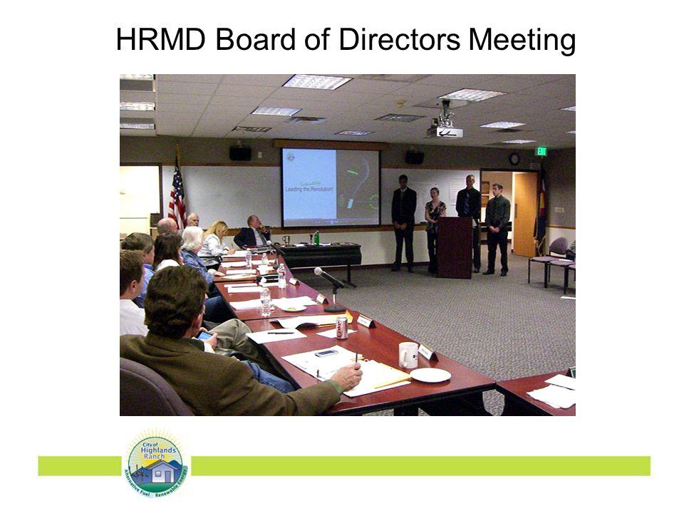 HRMD Board of Directors Meeting