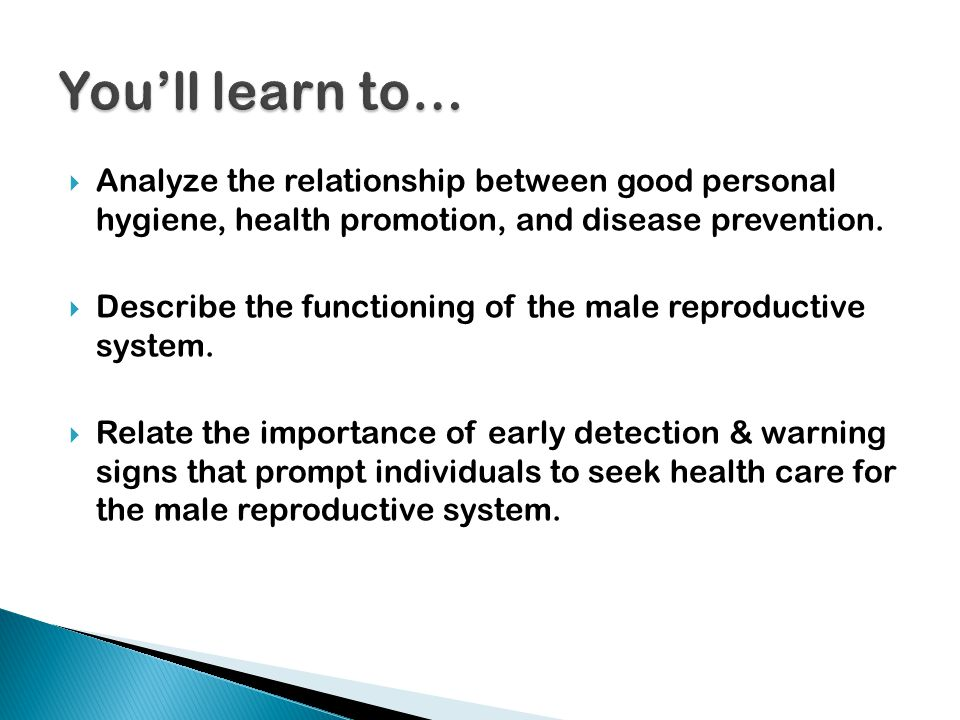  Analyze the relationship between good personal hygiene, health promotion, and disease prevention.