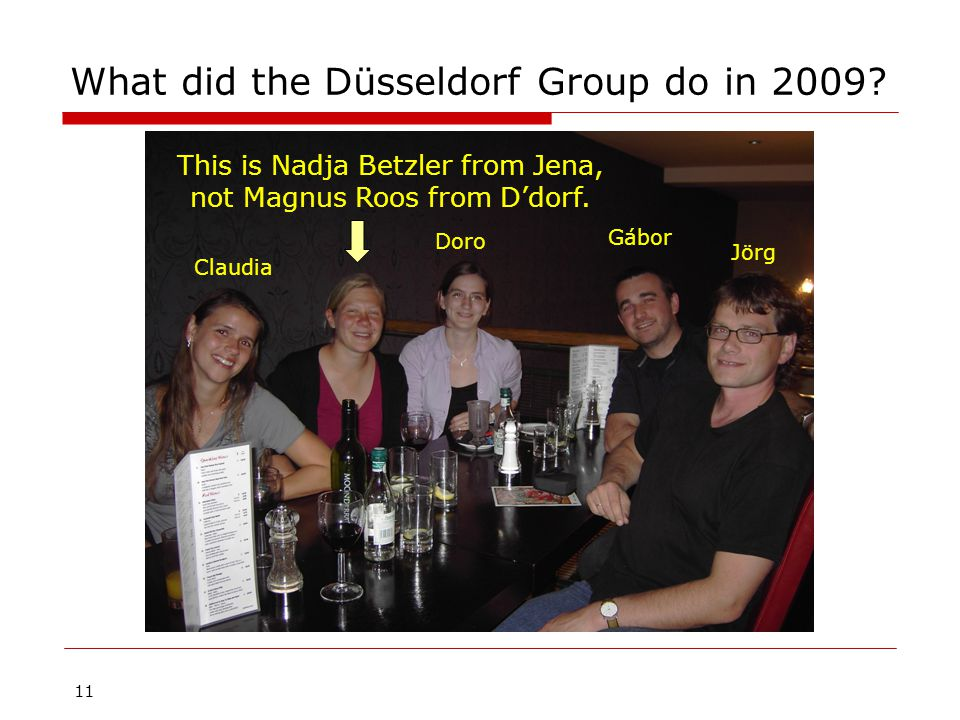 11 What did the Düsseldorf Group do in 2009.