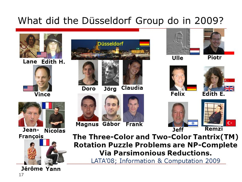 17 What did the Düsseldorf Group do in 2009.