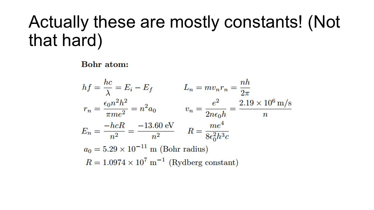 Actually these are mostly constants! (Not that hard)