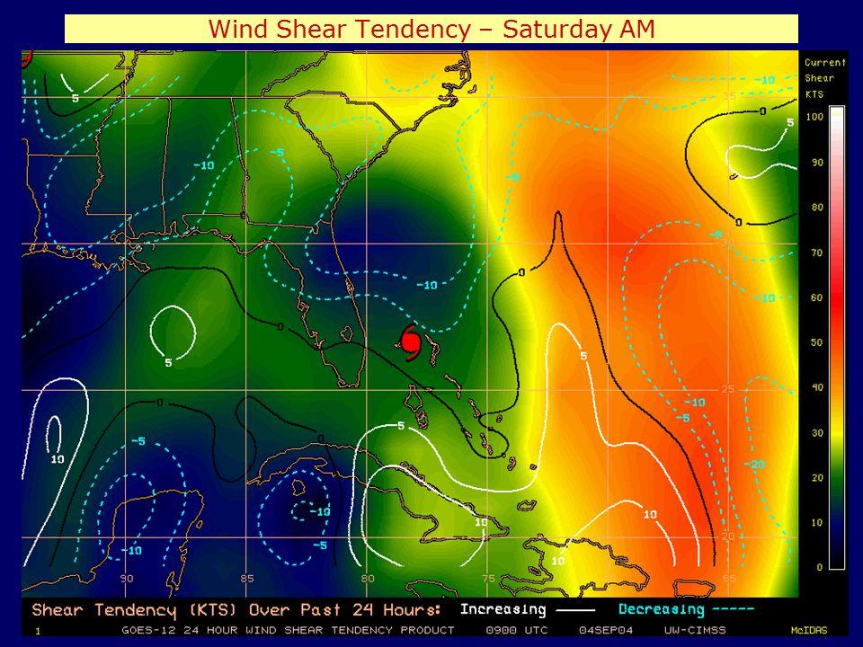 Wind Shear Tendency – Saturday AM