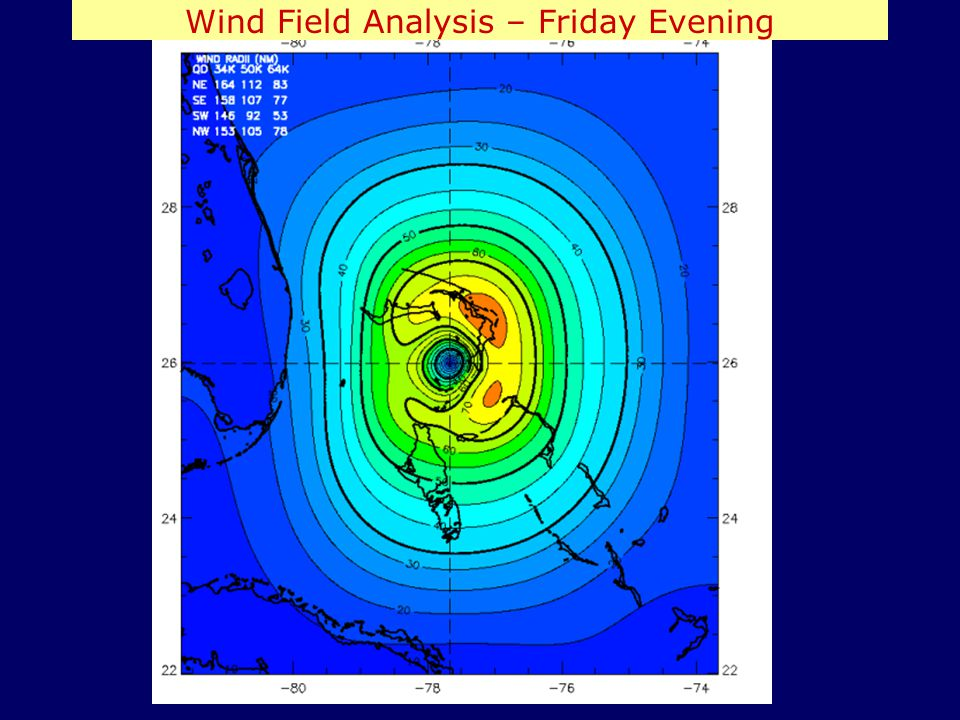 Wind Field Analysis – Friday Evening