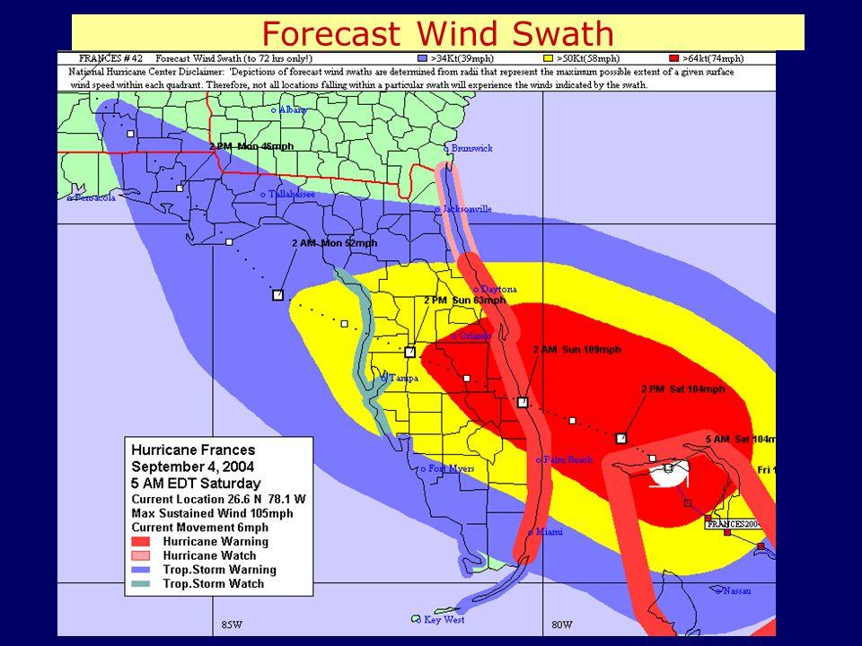 Forecast Wind Swath
