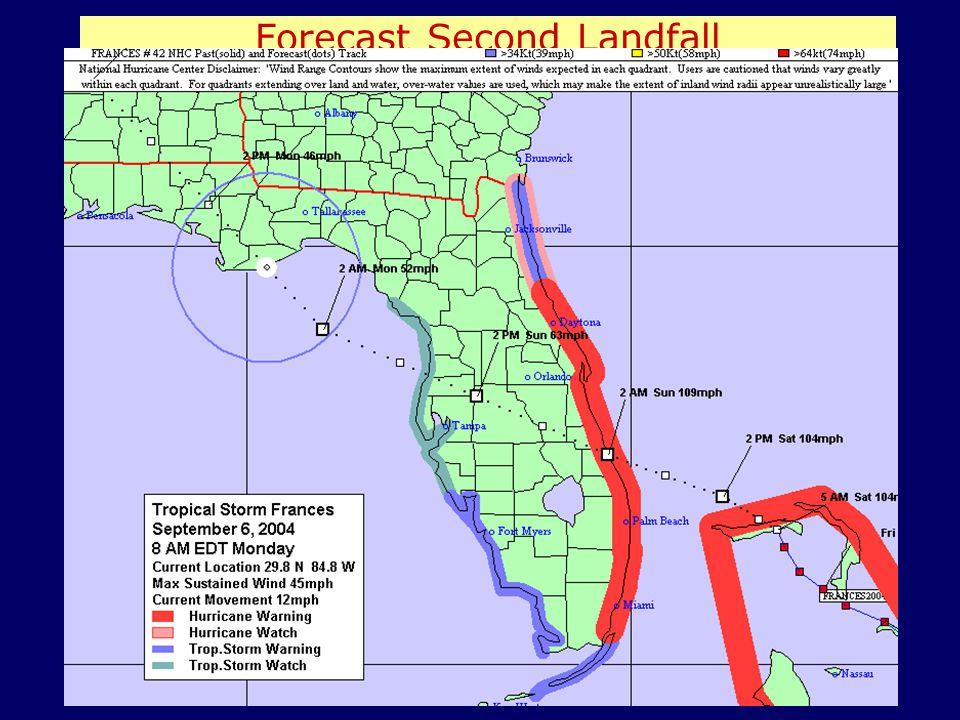 Forecast Second Landfall