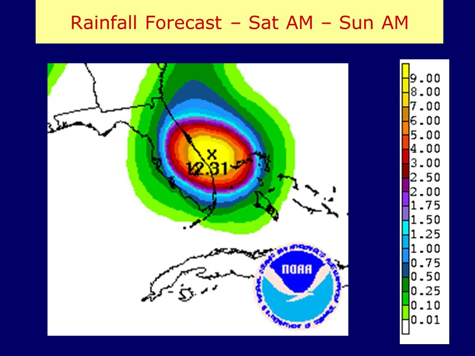 Rainfall Forecast – Sat AM – Sun AM