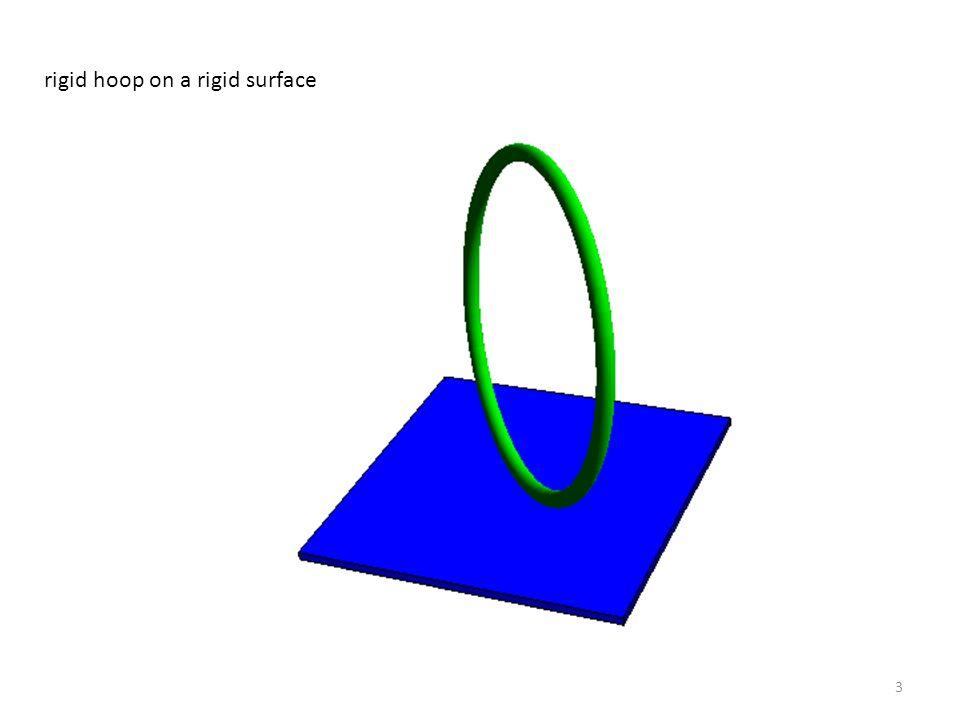 3 rigid hoop on a rigid surface