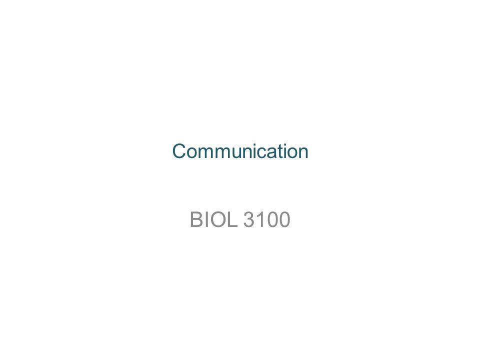 Communication BIOL 3100