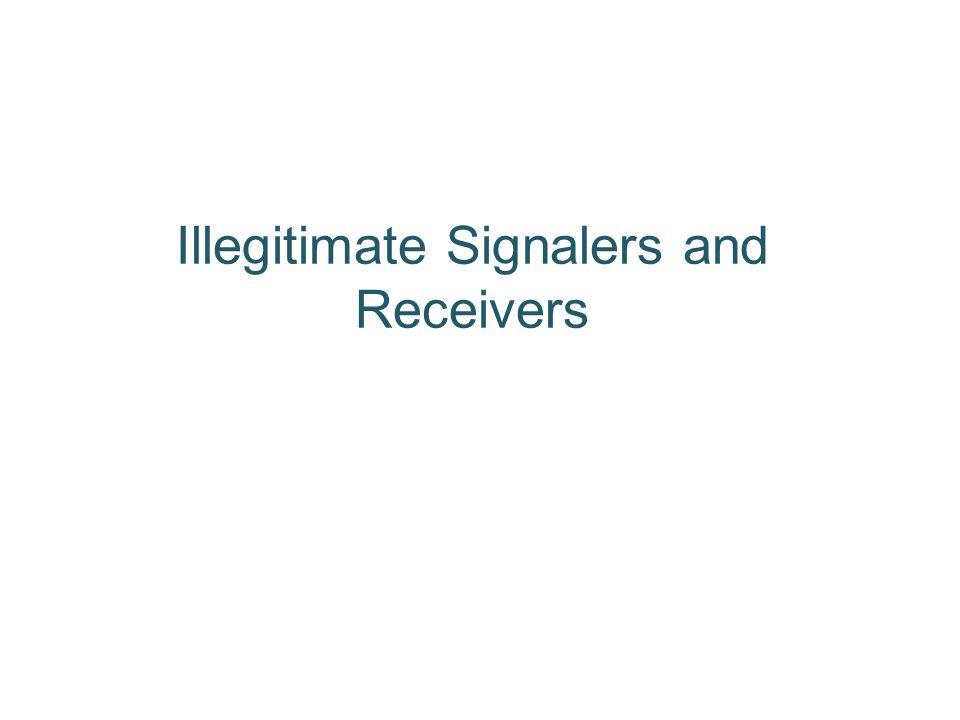 Illegitimate Signalers and Receivers