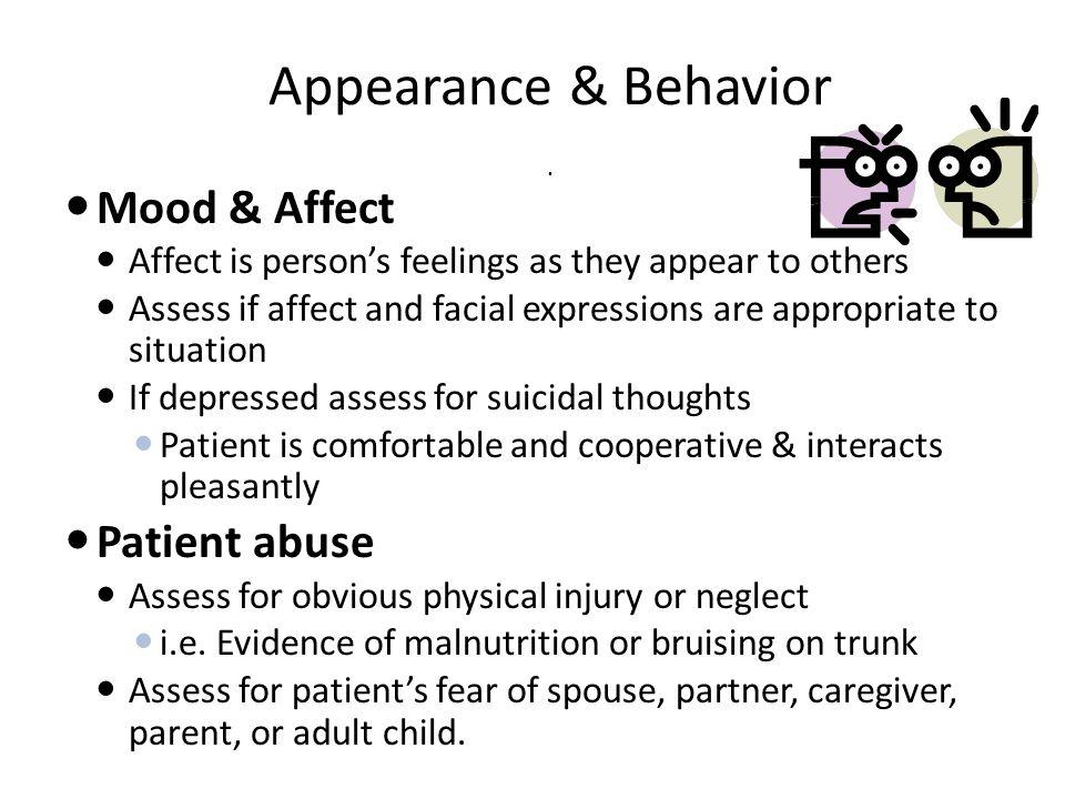 Appearance & Behavior.