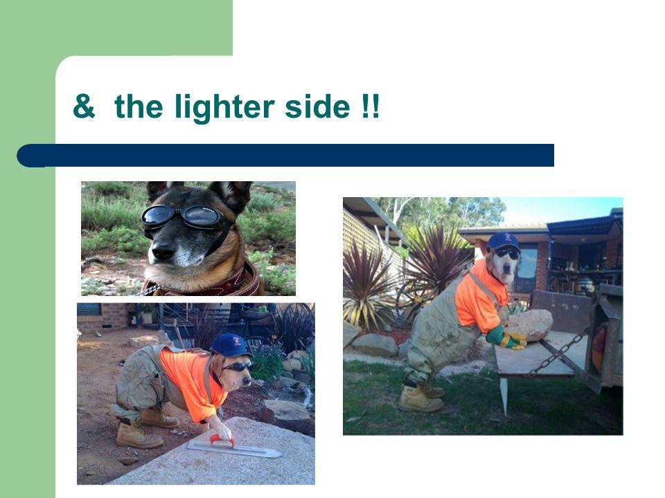 & the lighter side !!