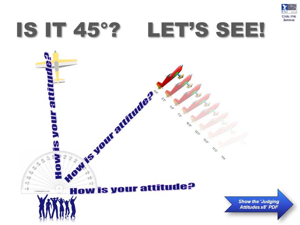 CIVA / FAI Seminar CIVA / FAI Seminar IS IT 45° LET'S SEE! Show the 'Judging Attitudes x8' PDF