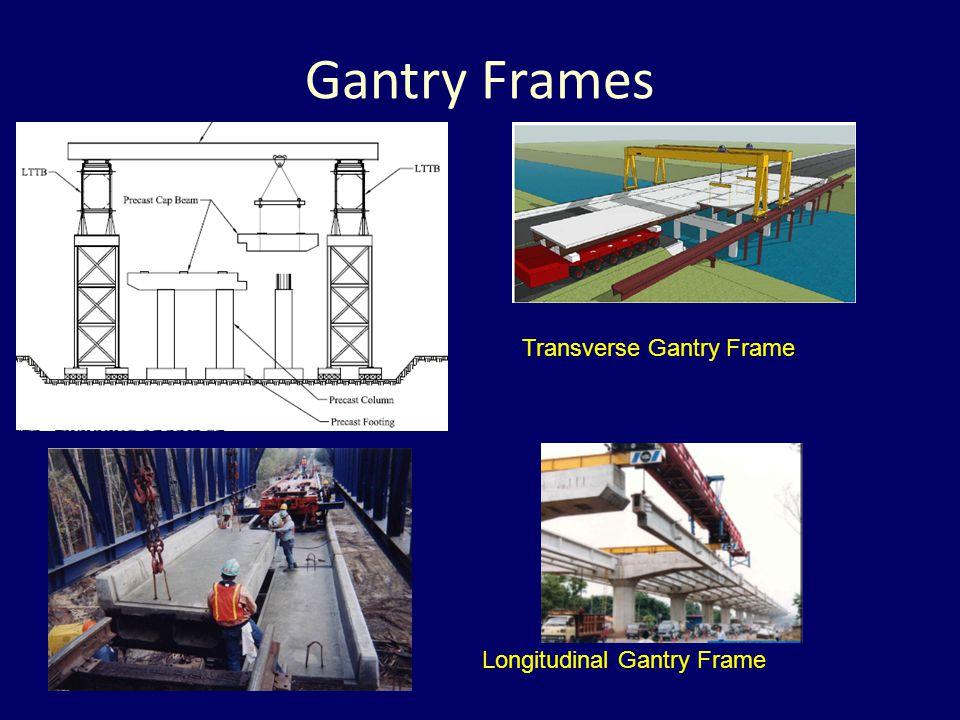 Gantry Frames Longitudinal Gantry Frame Transverse Gantry Frame