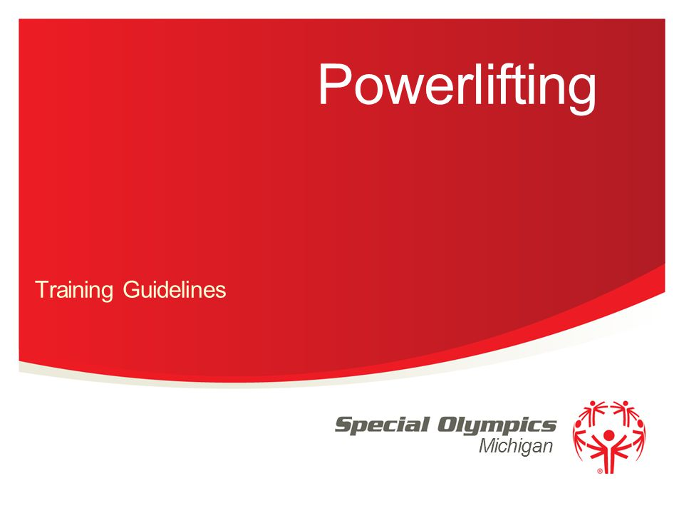 Michigan Powerlifting Training Guidelines