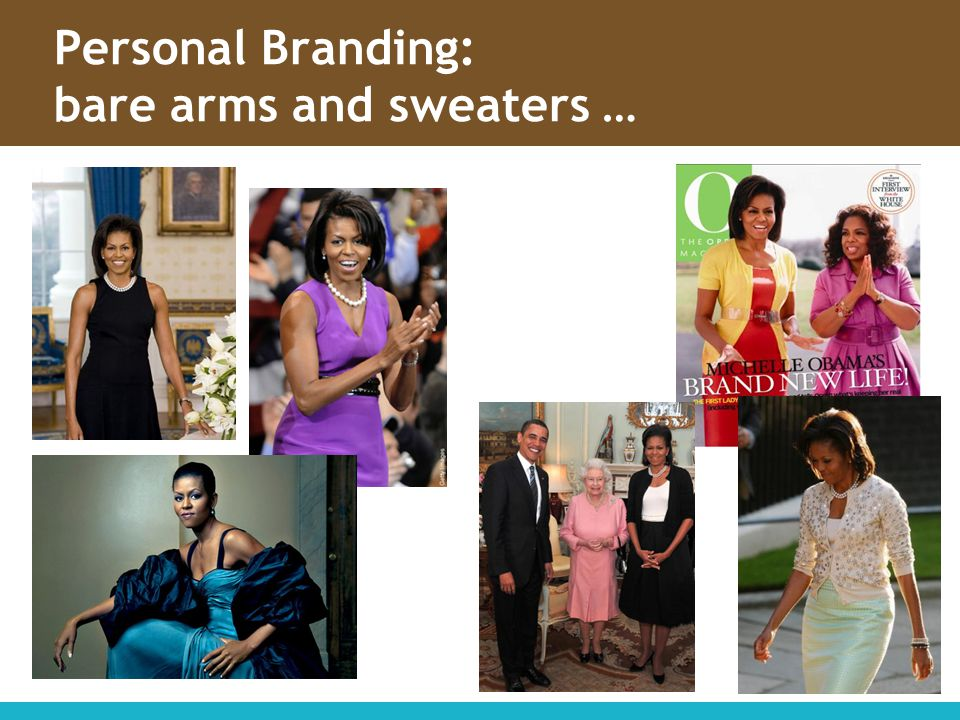 Personal Branding: bare arms and sweaters …