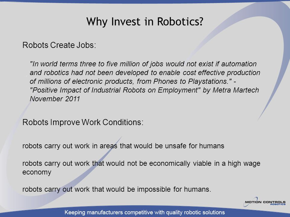 Why Invest in Robotics?