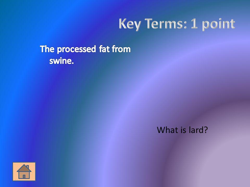 What is lard?
