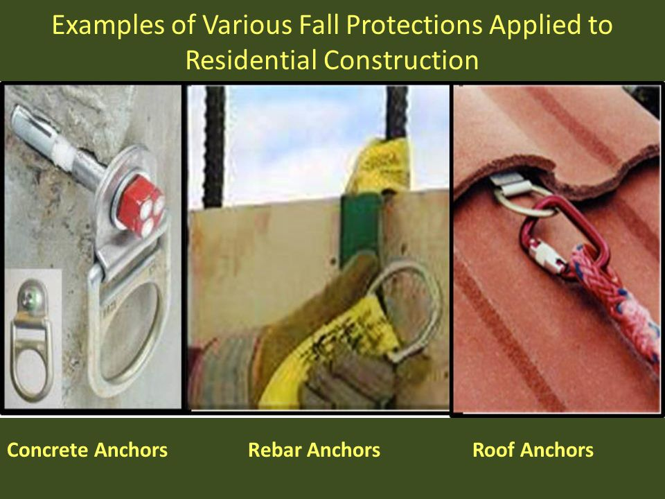Concrete Anchors Rebar Anchors Roof Anchors