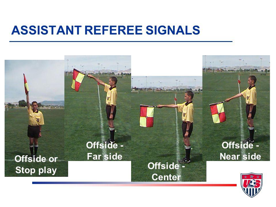 Goal kick Corner kick Throw-in ASSISTANT REFEREE SIGNALS
