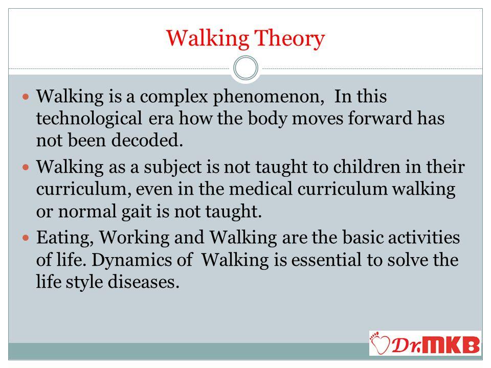 Walking Theory Dr.Murali Krishna P.V.