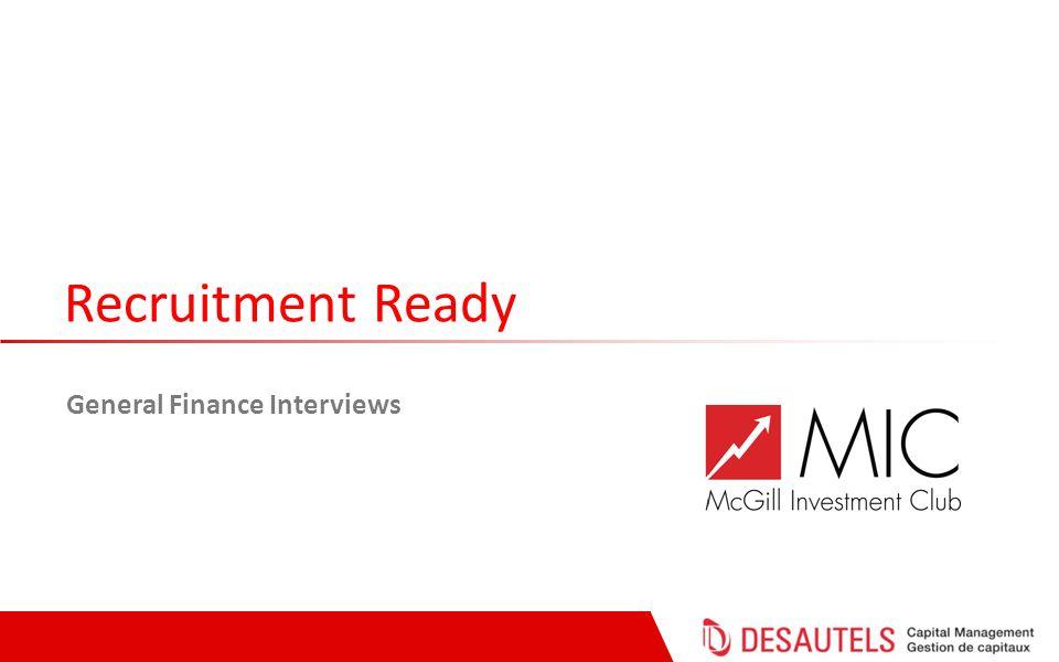 Recruitment Ready General Finance Interviews